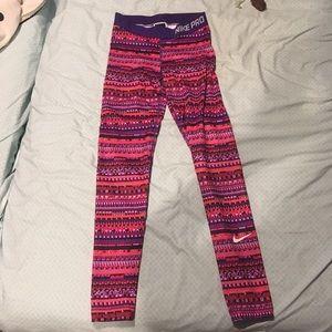 Colorful Nike pro leggings !!